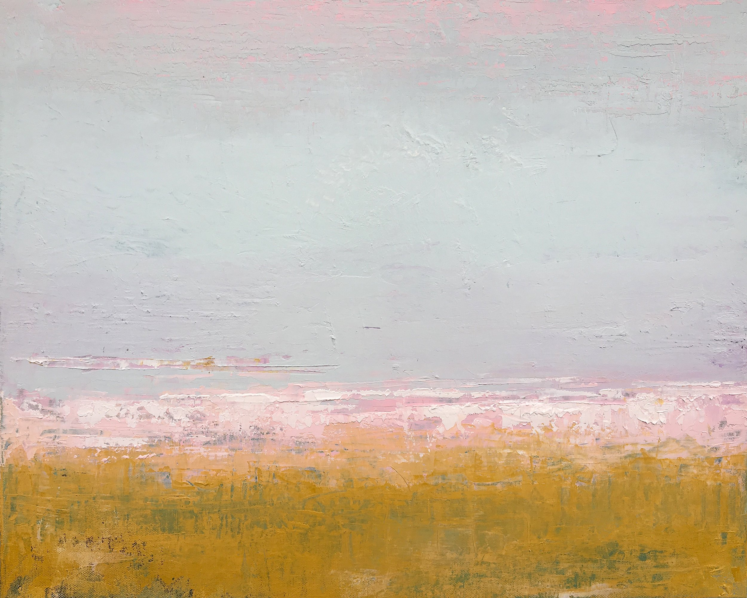 "Pink & Ochre • Oil on canvas • 16 x 20"""