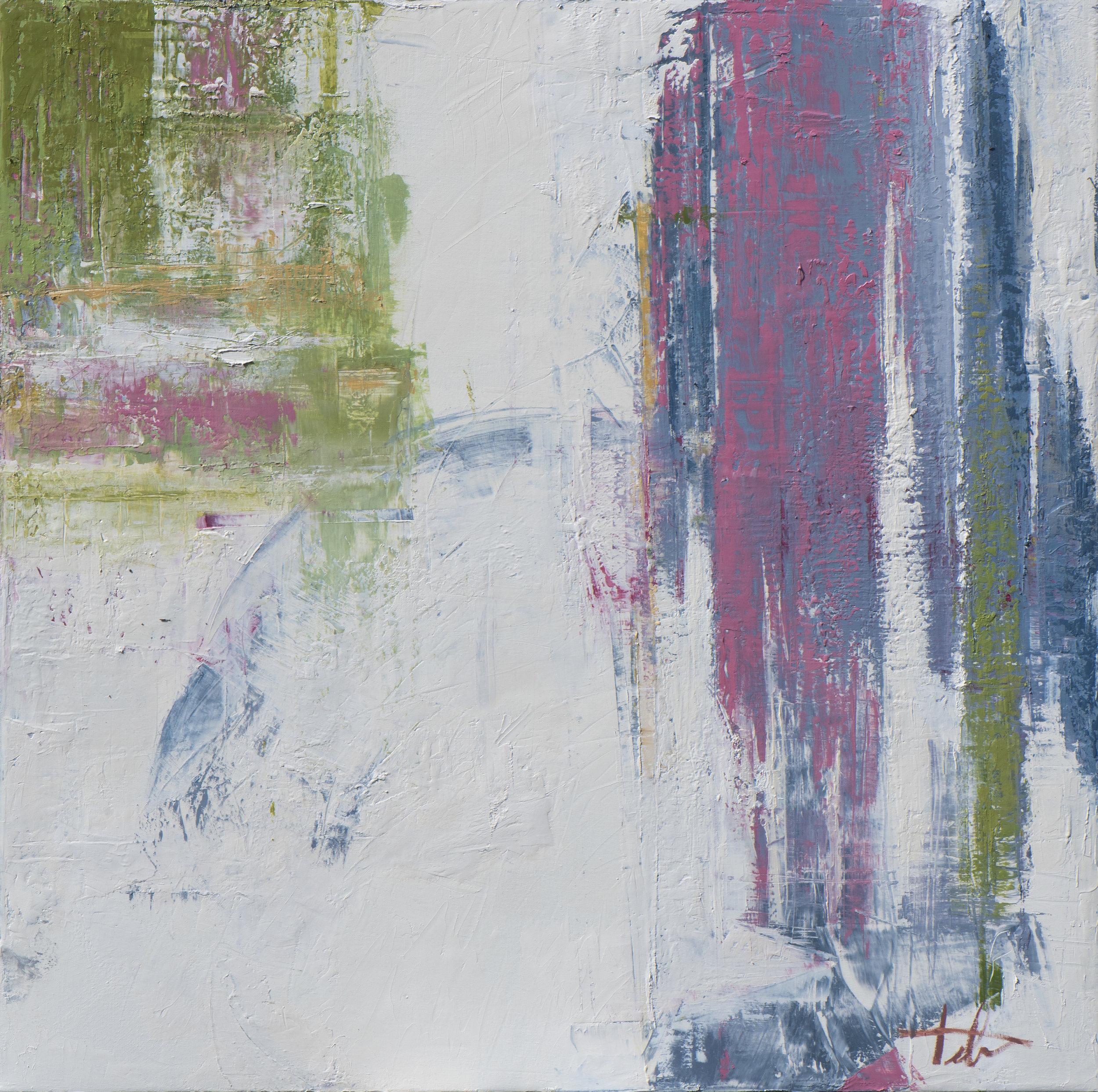 "Glass House Diptych 1 • Oil on canvas • 42 x 42"""