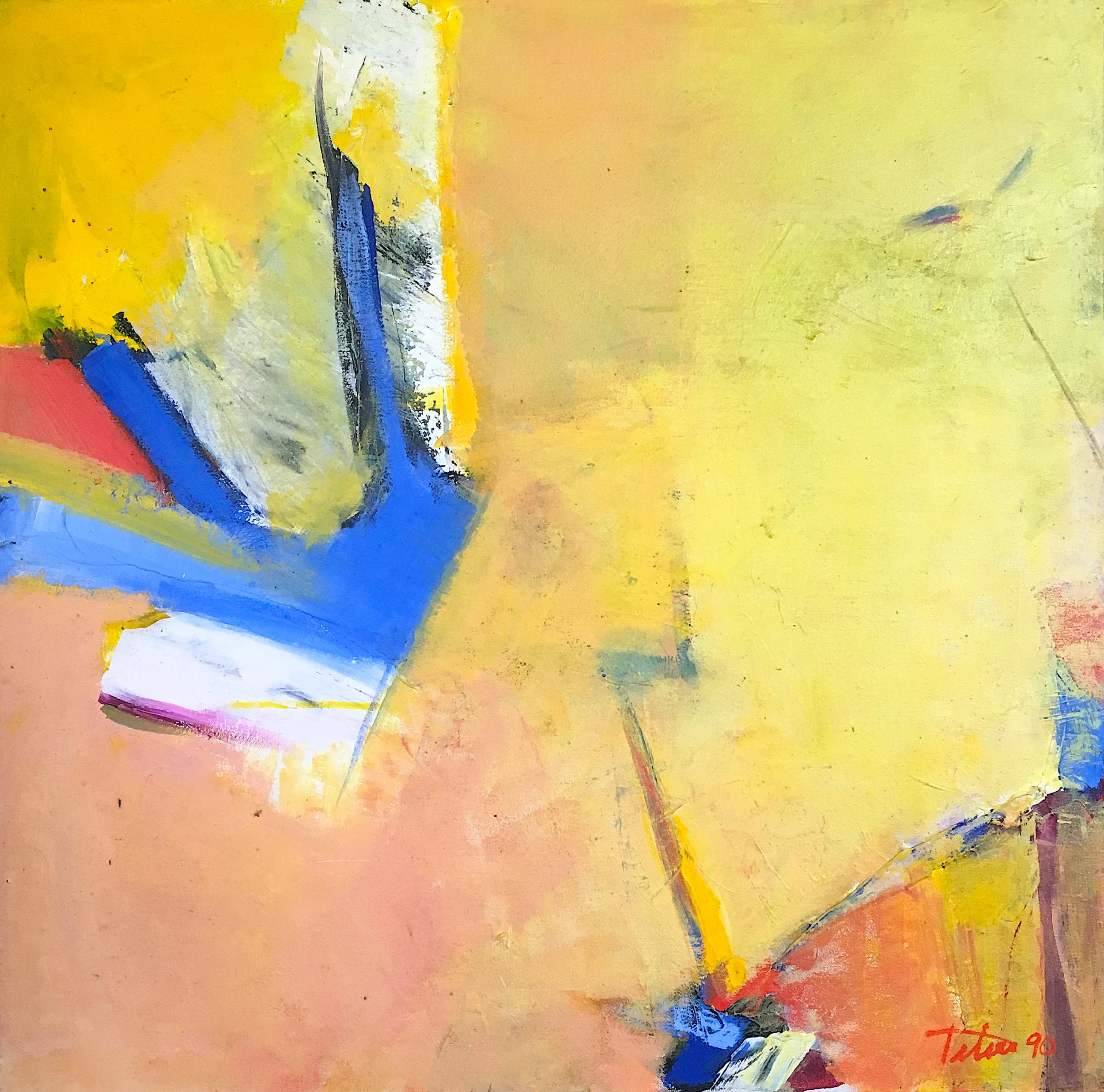 "Blue in Orbit • Oil on canvas • 24 x 24"""