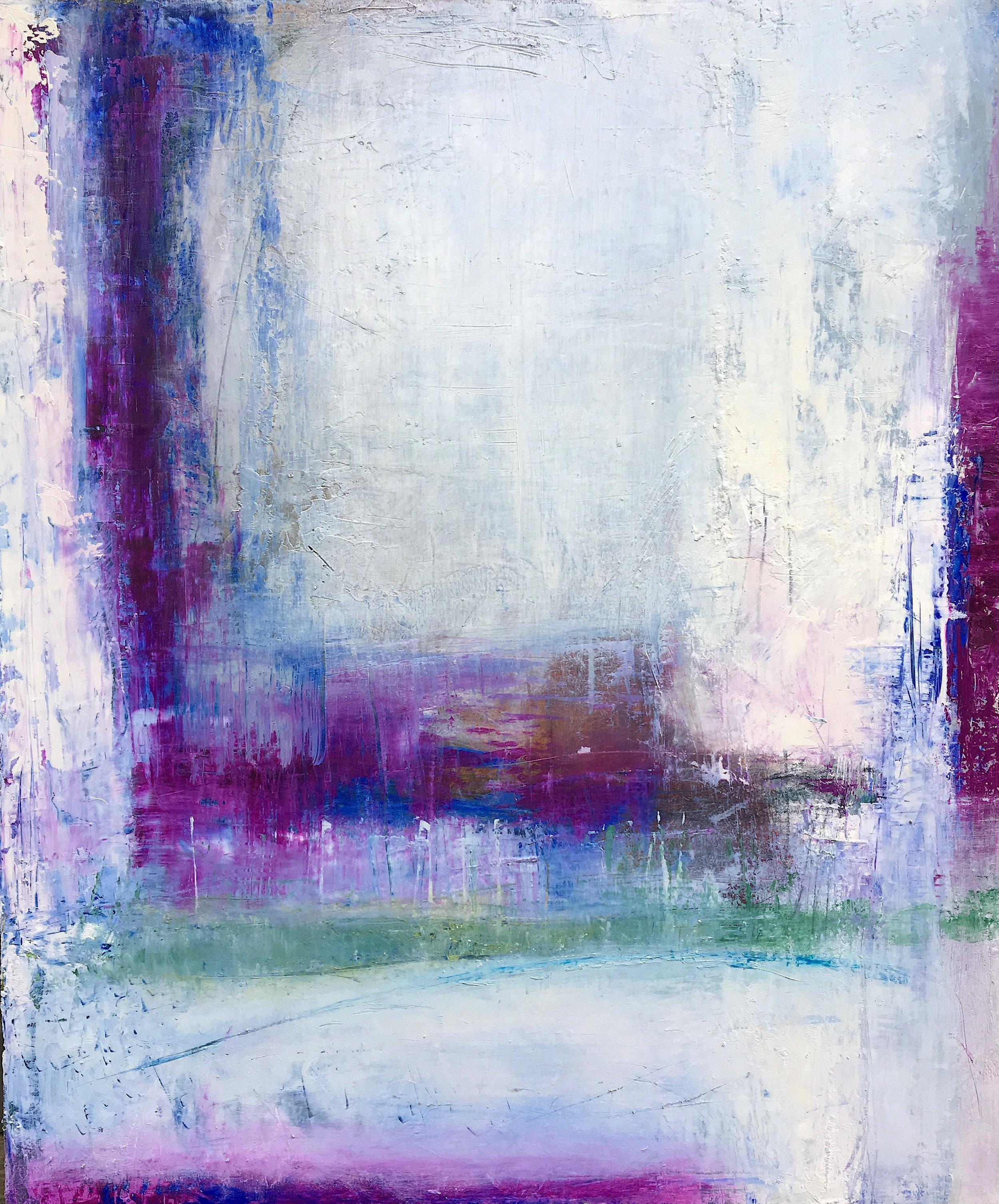 "Purple Frame • Oil on canvas • 36 x 30"""
