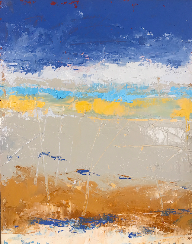 """Waves • Oil on board • 11 x 14"""""""