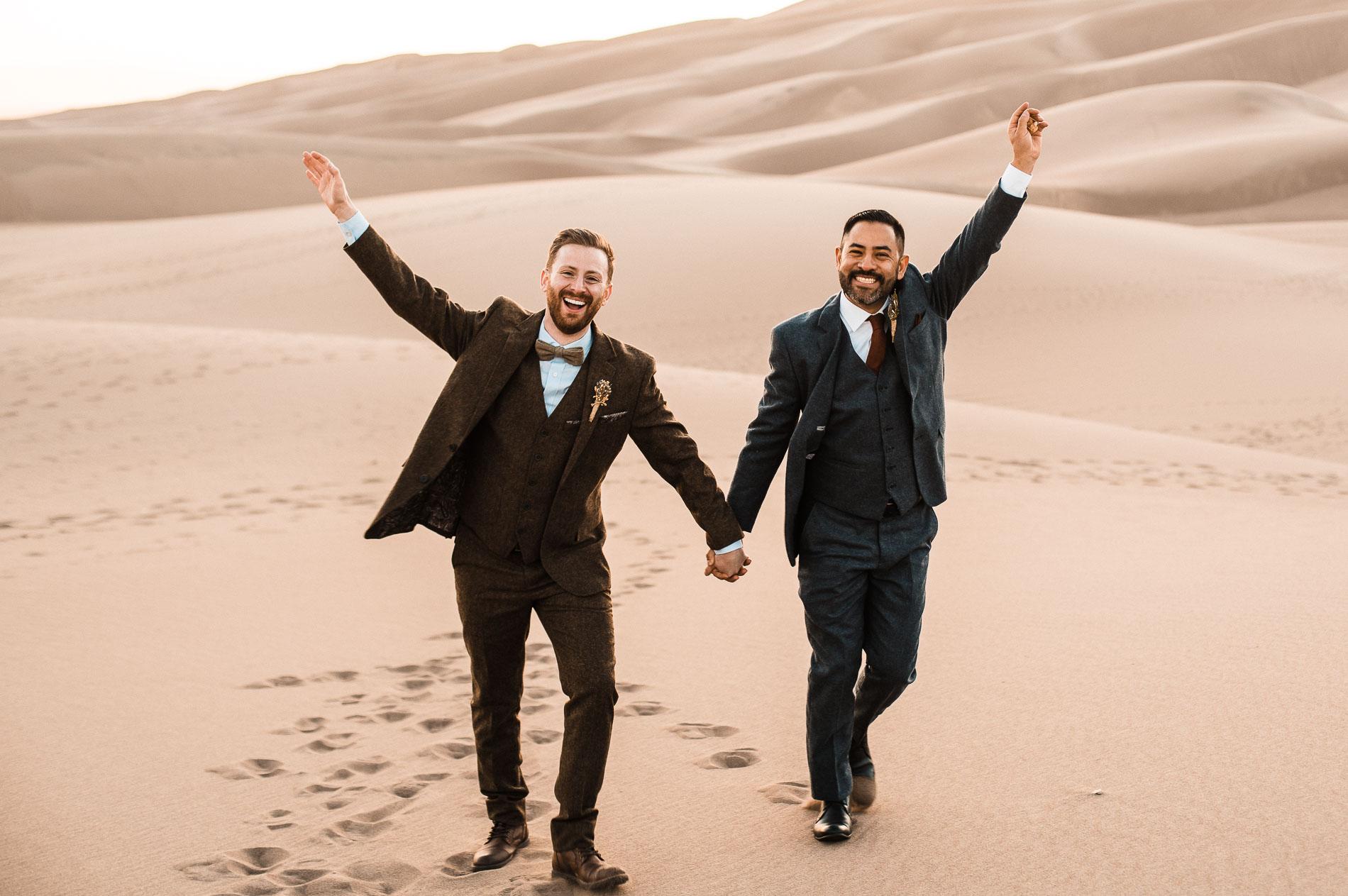 Marlen + Jesus' Sand Dunes Elopement