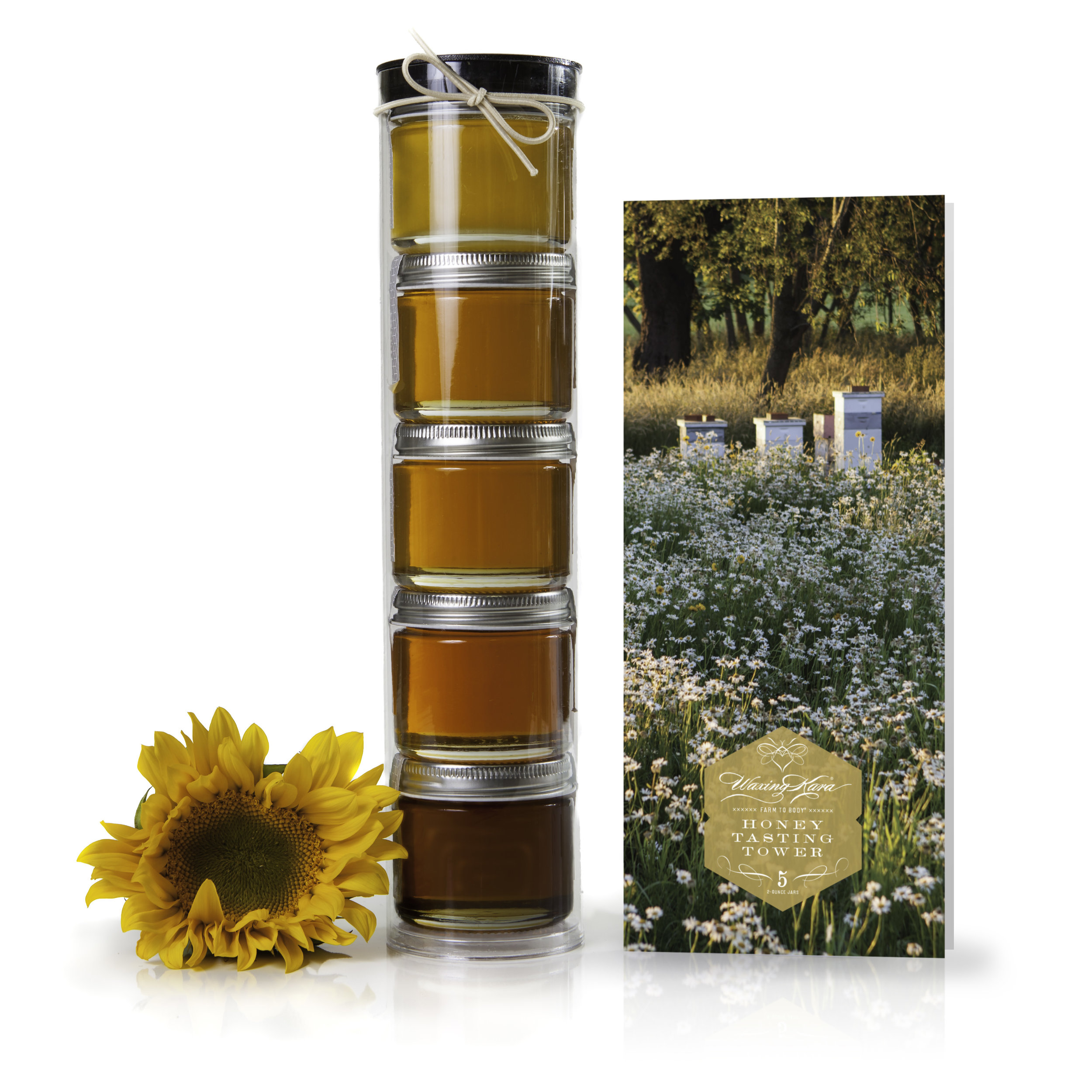#8: Waxing Kara-Honey Tasting Tower - This Honey Tasting offers a selection of pure, raw, Kosher honey from different geographical and plant sources. You'll have five different 2-ounce portions to share with friends and family.