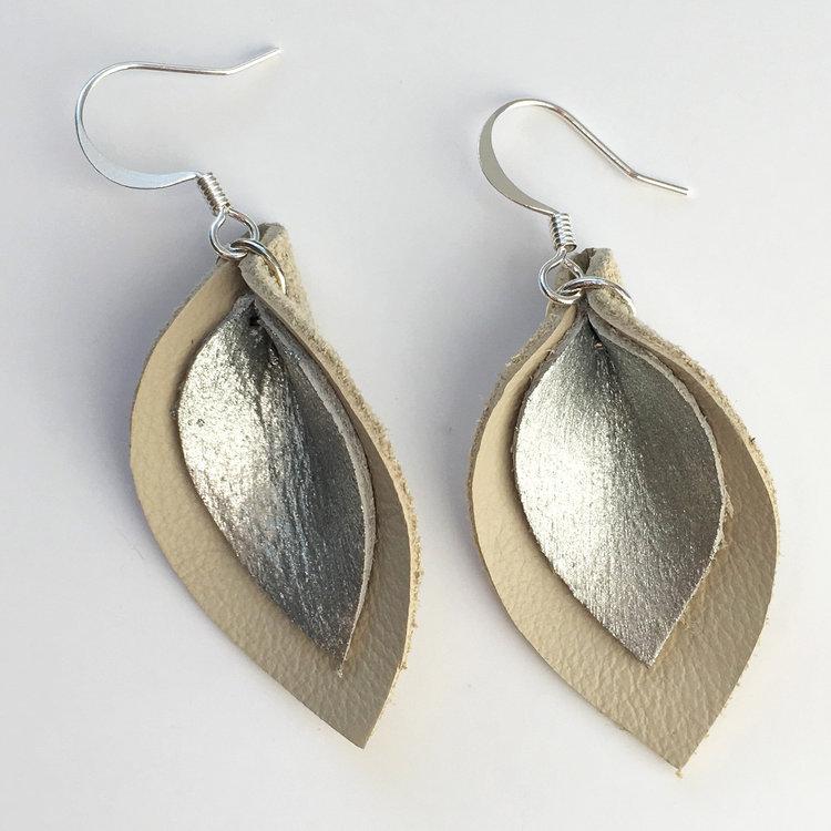 Handmade Leather Earrings by Local Artist Dee Lenehan