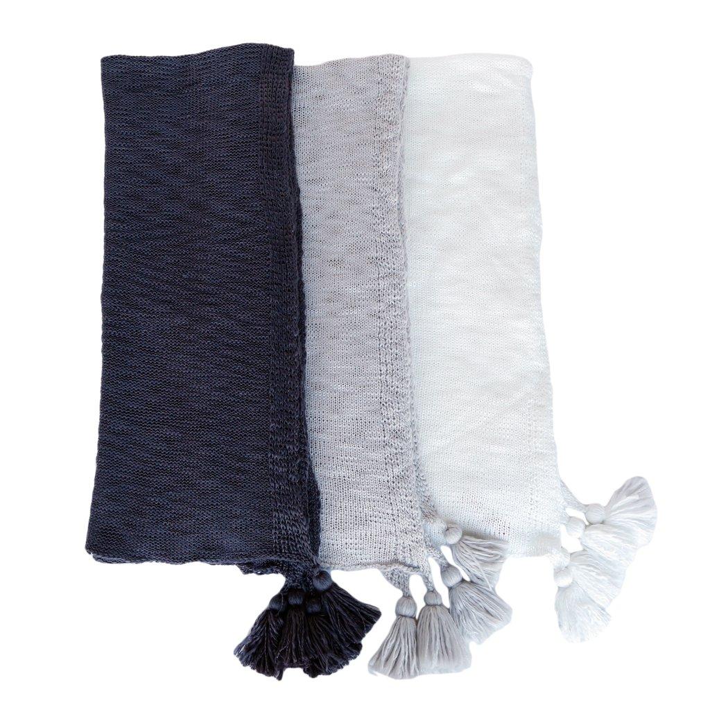 Super Soft Tasseled Throw Blanket