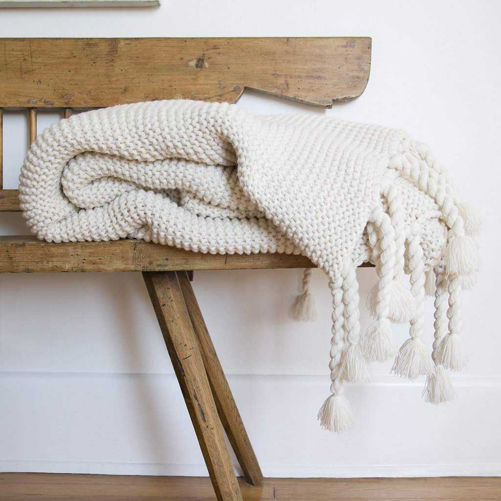 Chunky Knit Woven Blanket
