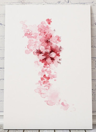 Cherry blossom summer fashion of pink watercolors .jpg