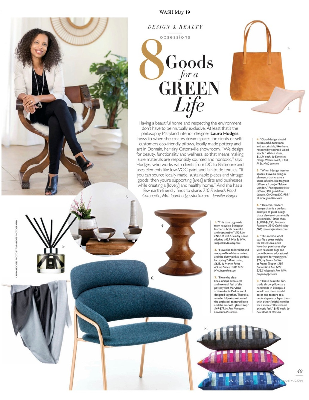 DC MODERN LUXURY MAGAZINE, MAY 2019