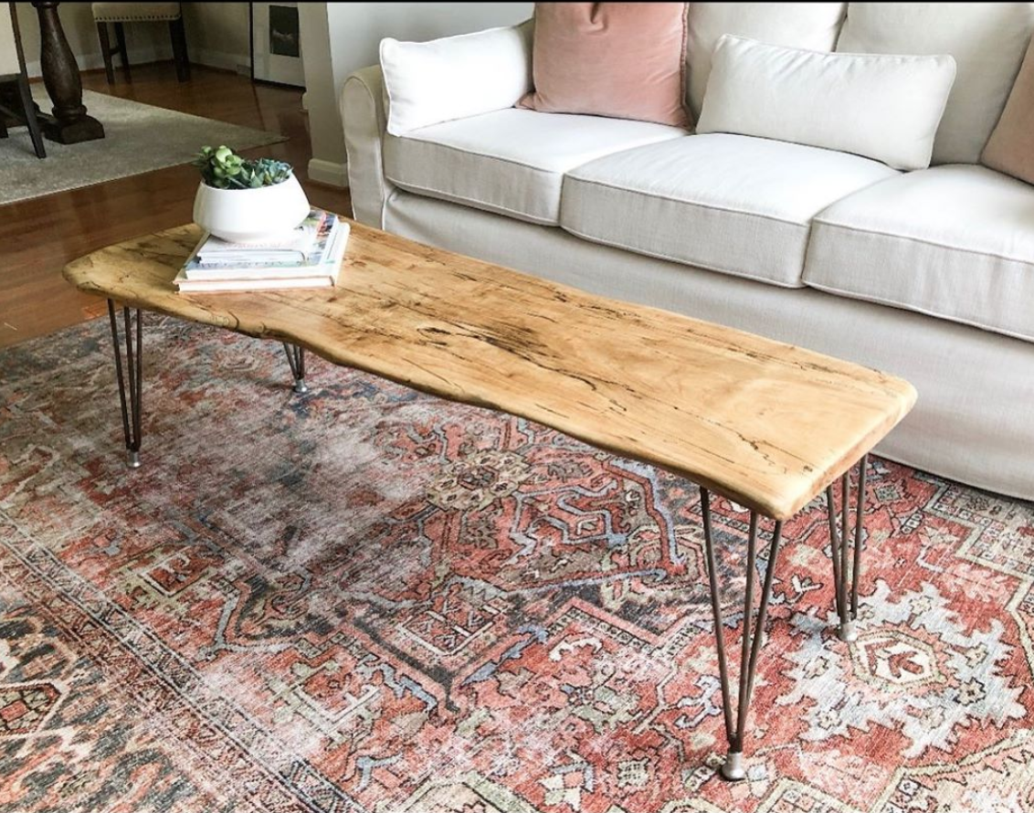 #8: Live Edge Table - Your Dad would love one of our handmade live edge tables made by local woodworker, Rustik Designs.