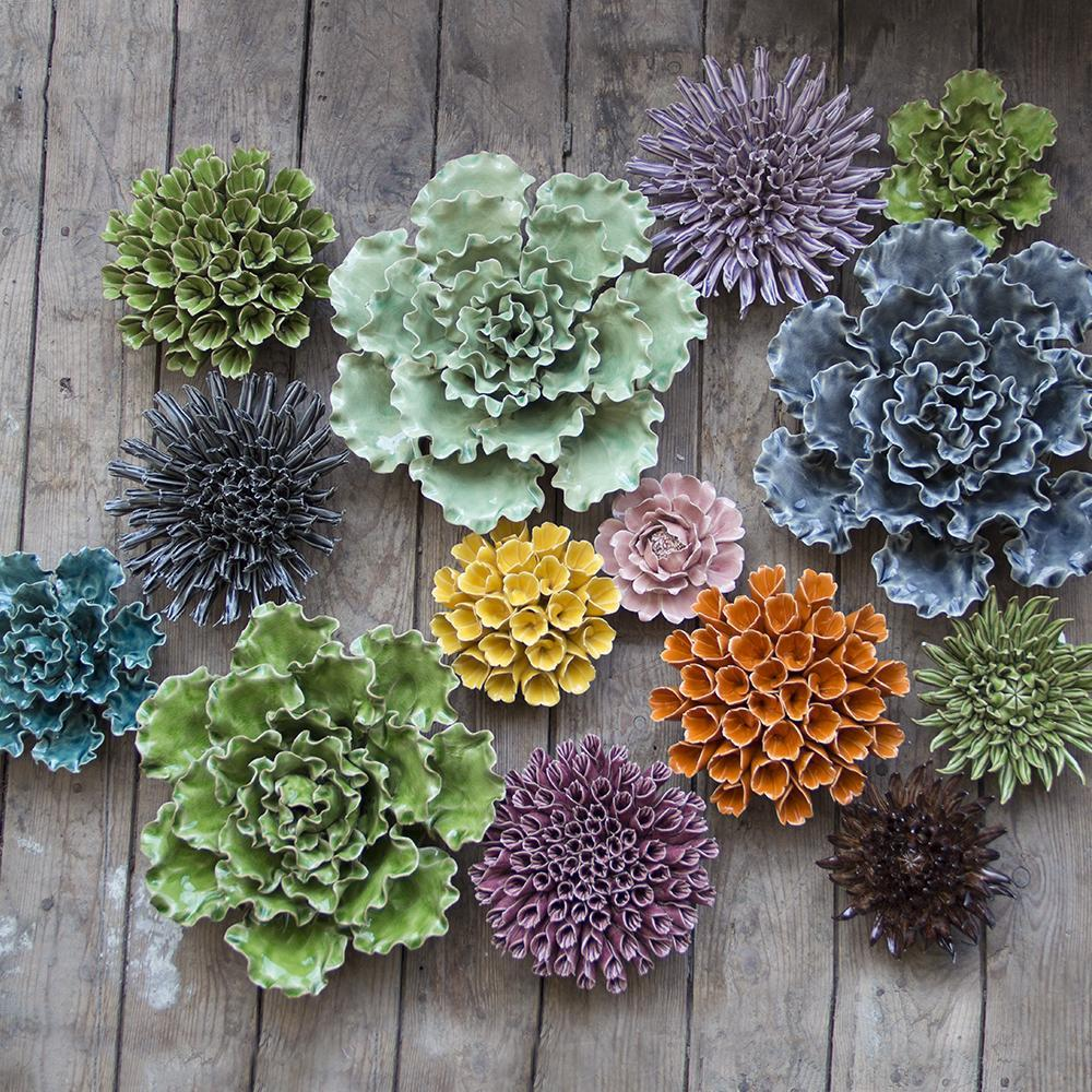 Ceramic Succulent - Ceramic succulents look great hanging on the wall or as an accessory on your desk.