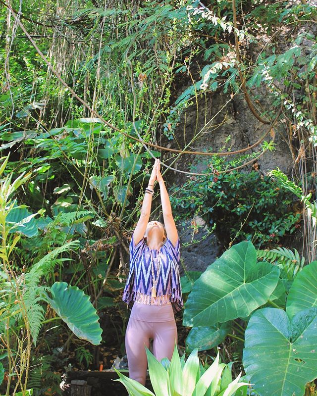 Root down deep. Rise up high. |  One of our favorite Wild Women @yoga.soul.style getting her jungle goddess on 🌿 . . . . #workyourwild #womensretreat #yoga #essentialoils #junglegoddess #yogatrip #womenwhotravel #crystalmagic #movement #yogaretreat
