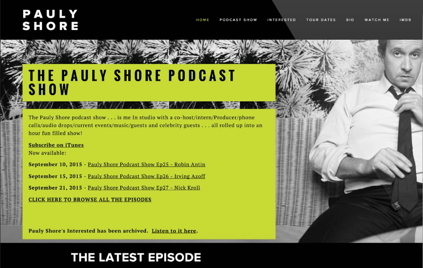 A custom-built podcast website on the Squarespace platform.