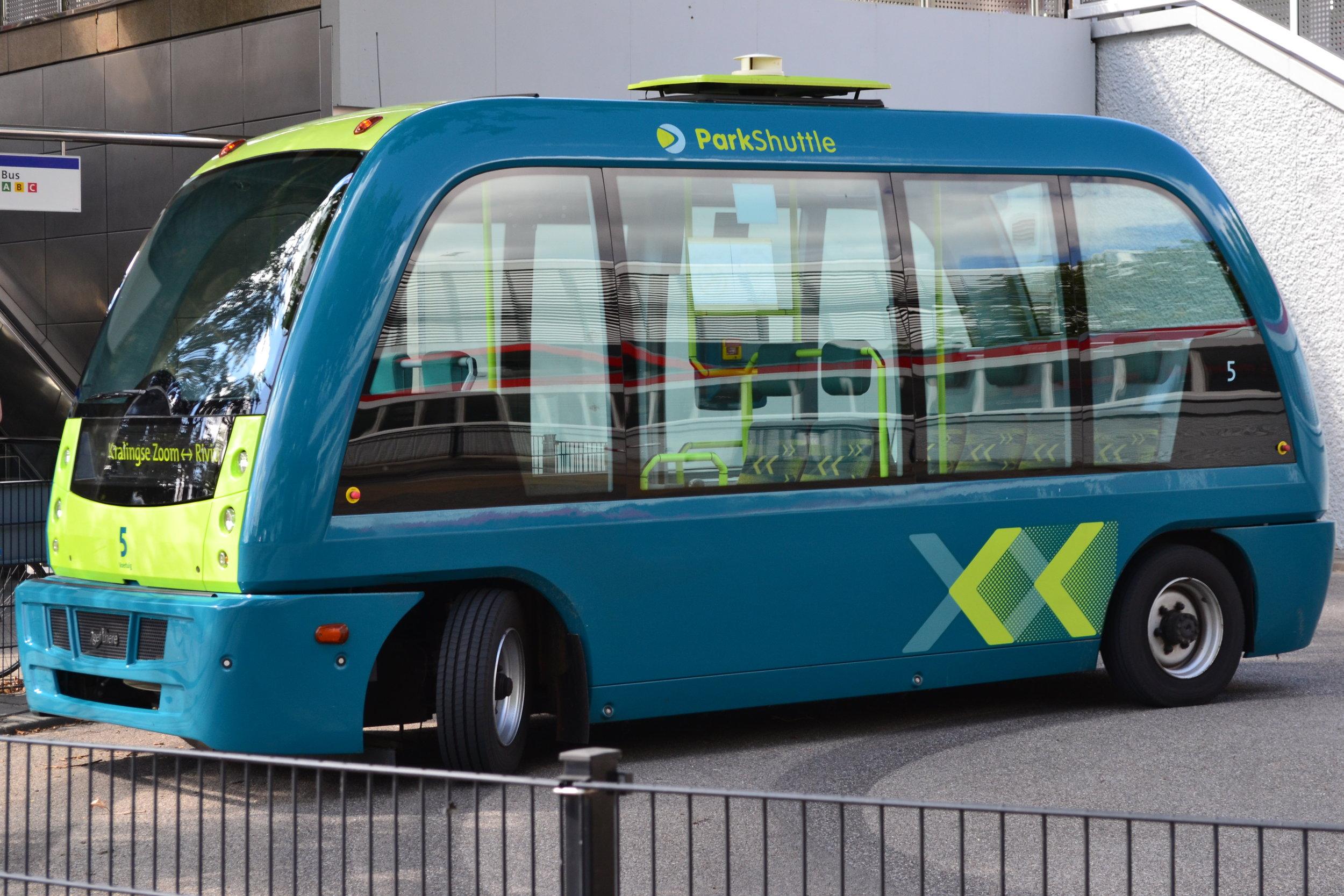 Rotterdam ParkShuttle autonomous minibuses (Photo credit: Paradasos)