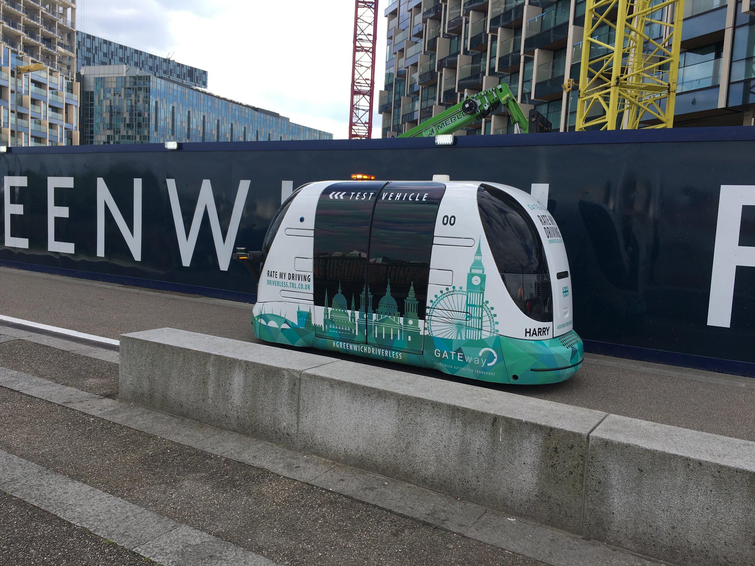 Greenwich London self-driving test vehicle (Photo credit: David Jones)