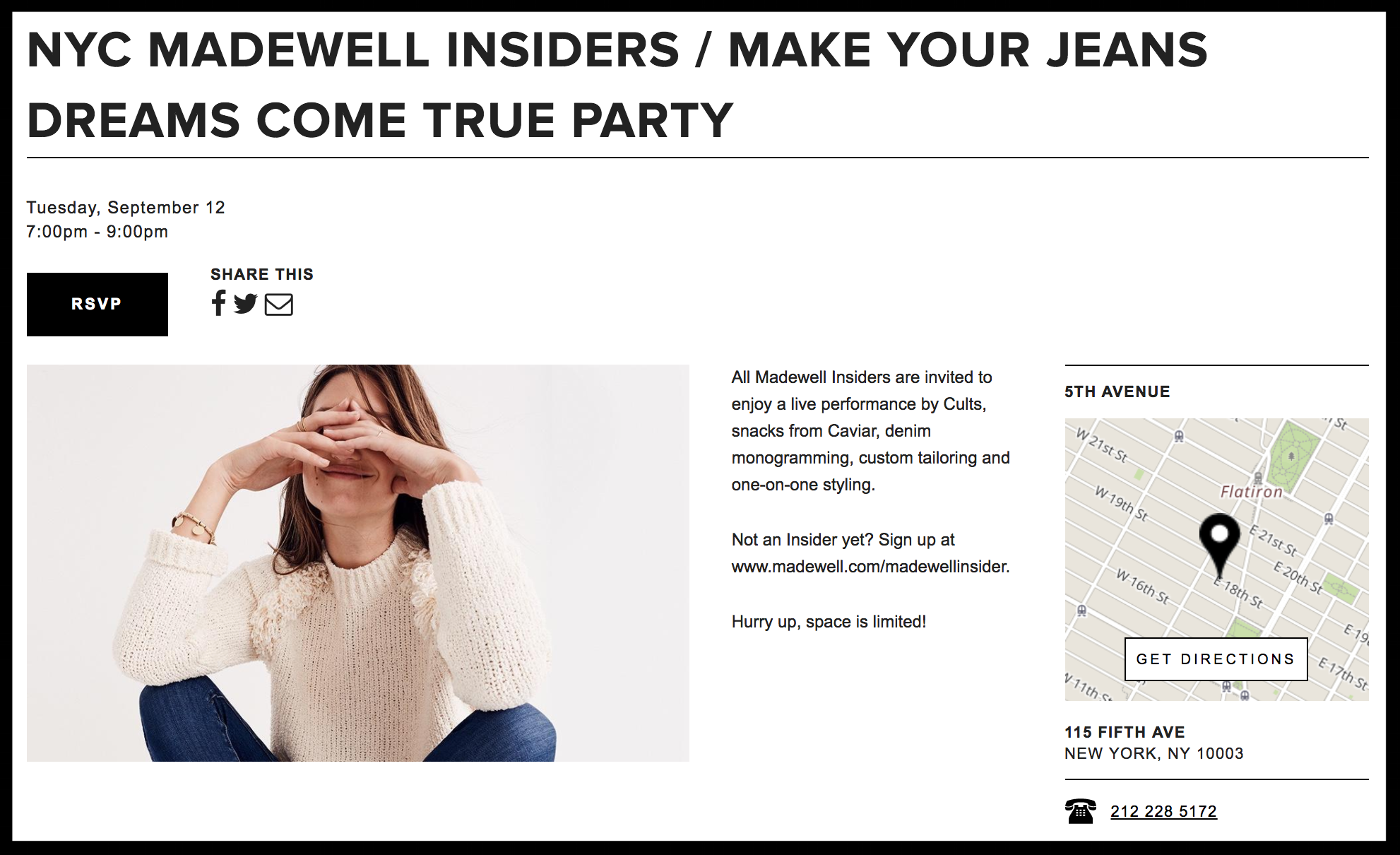 Madewell in-store event