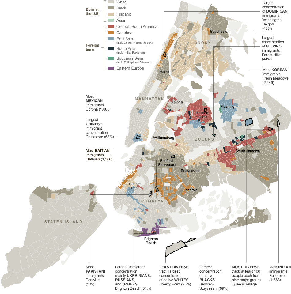 New York's Shifting Ethnic Mosaiac   Map by the New York Times, Then As Now — New York's Shifting Mosaiac,    http://archive.nytimes.com/www.nytimes.com/interactive/2011/01/23/nyregion/20110123-nyc-ethnic-neighborhoods-map.html?_r=0