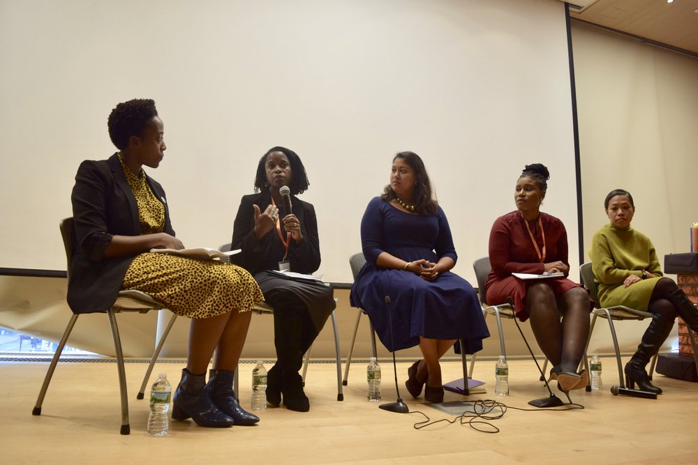 """The 2018 opening keynote """"fireside chat"""" honored the 50th Anniversary of the Fair Housing Act, featured an all-powerful woman of color panel, moderated by Vice Chair Daphne Lundi, and included: Professor Olatunde Johnson, Nupur Chaudhury, Chanera Pierce, Commissioner and Maria Torres-Springer."""