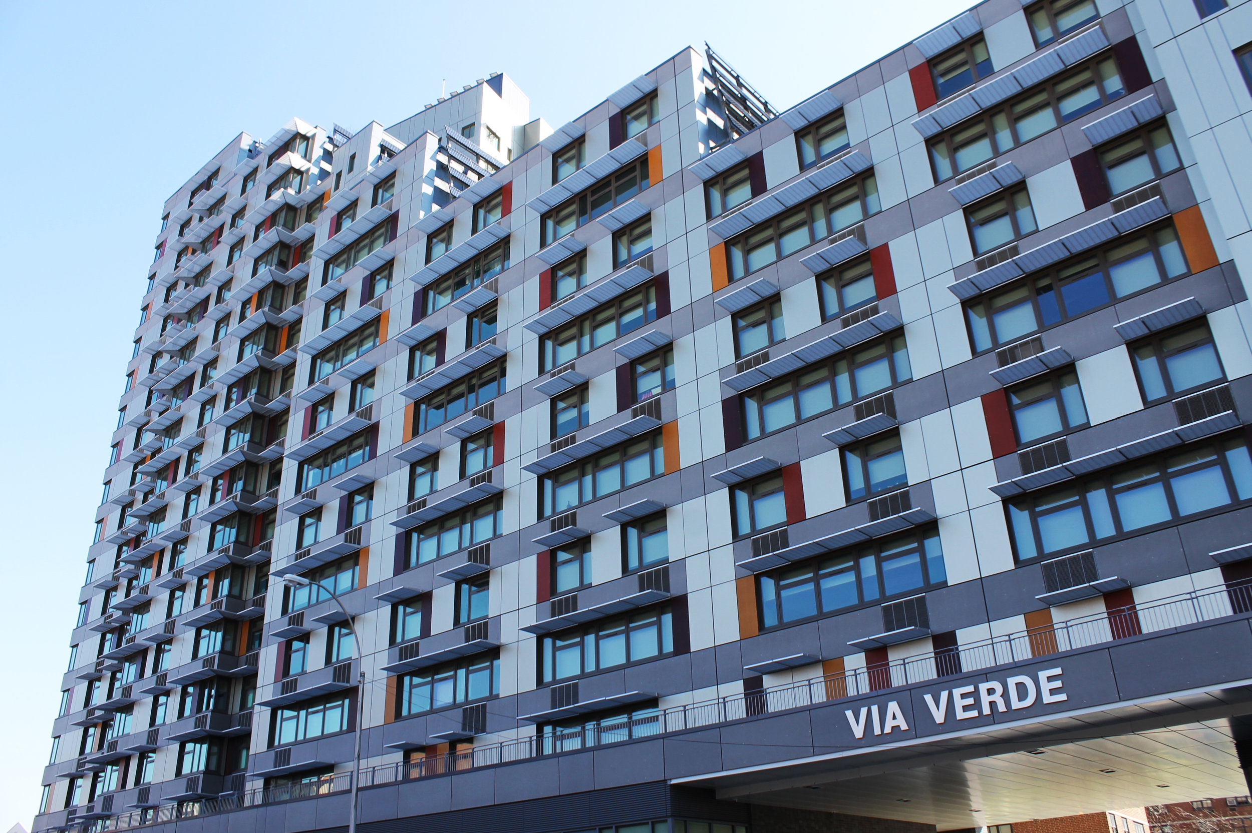 Via Verde Housing Complex, Bronx, NY - Designed by Grimshaw Architects and Dattner Architects (Photo by Jules Antonio)