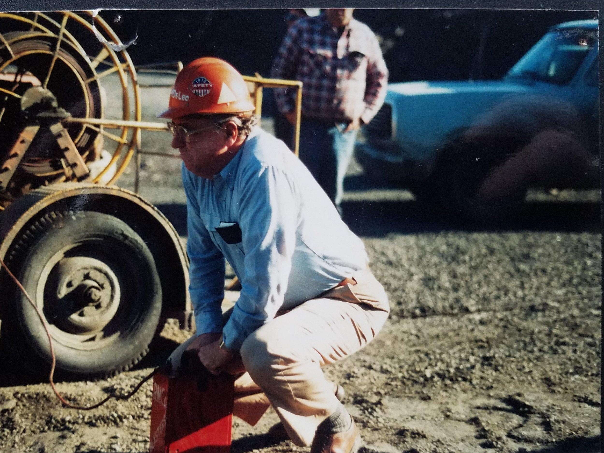 Grandpa Dave DeLeo at his last blast in Babbit