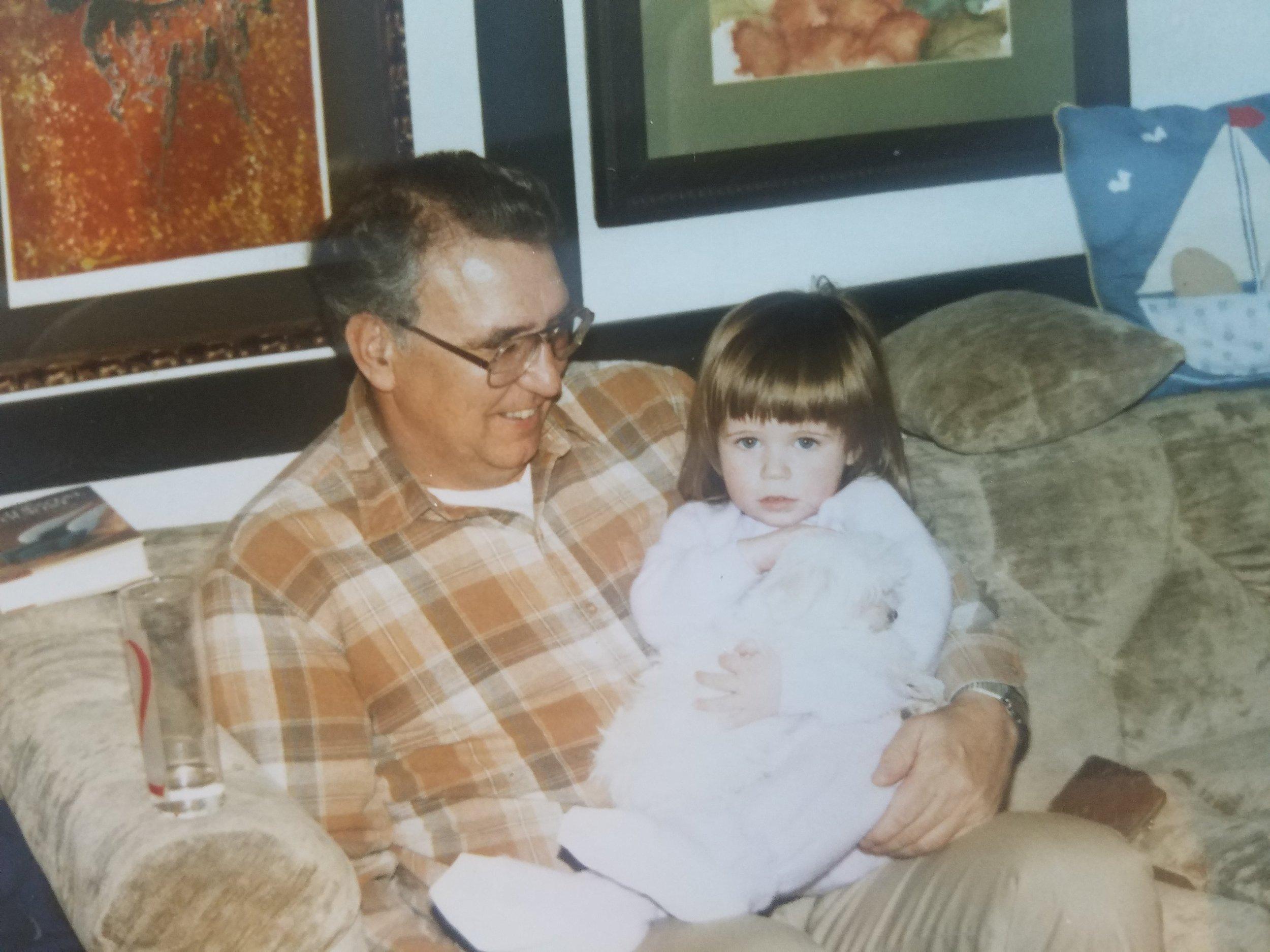 Grandpa Dave & Leah in 1986