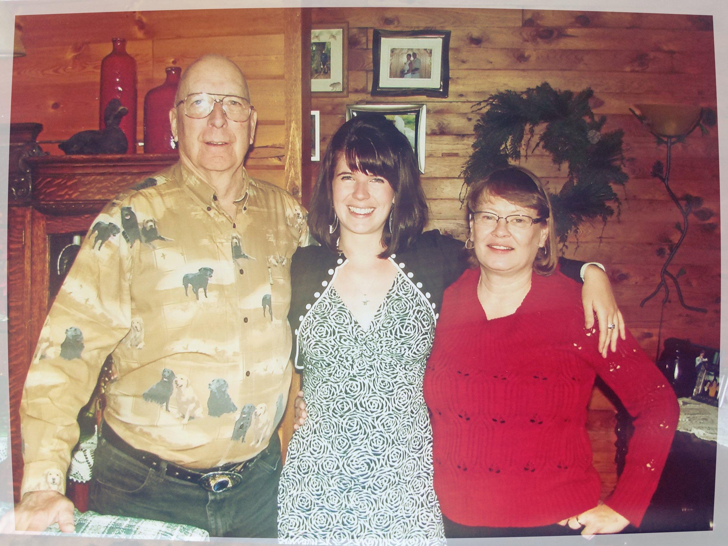 Grandpa and Grandma Jensen with their favorite first-born granddaughter