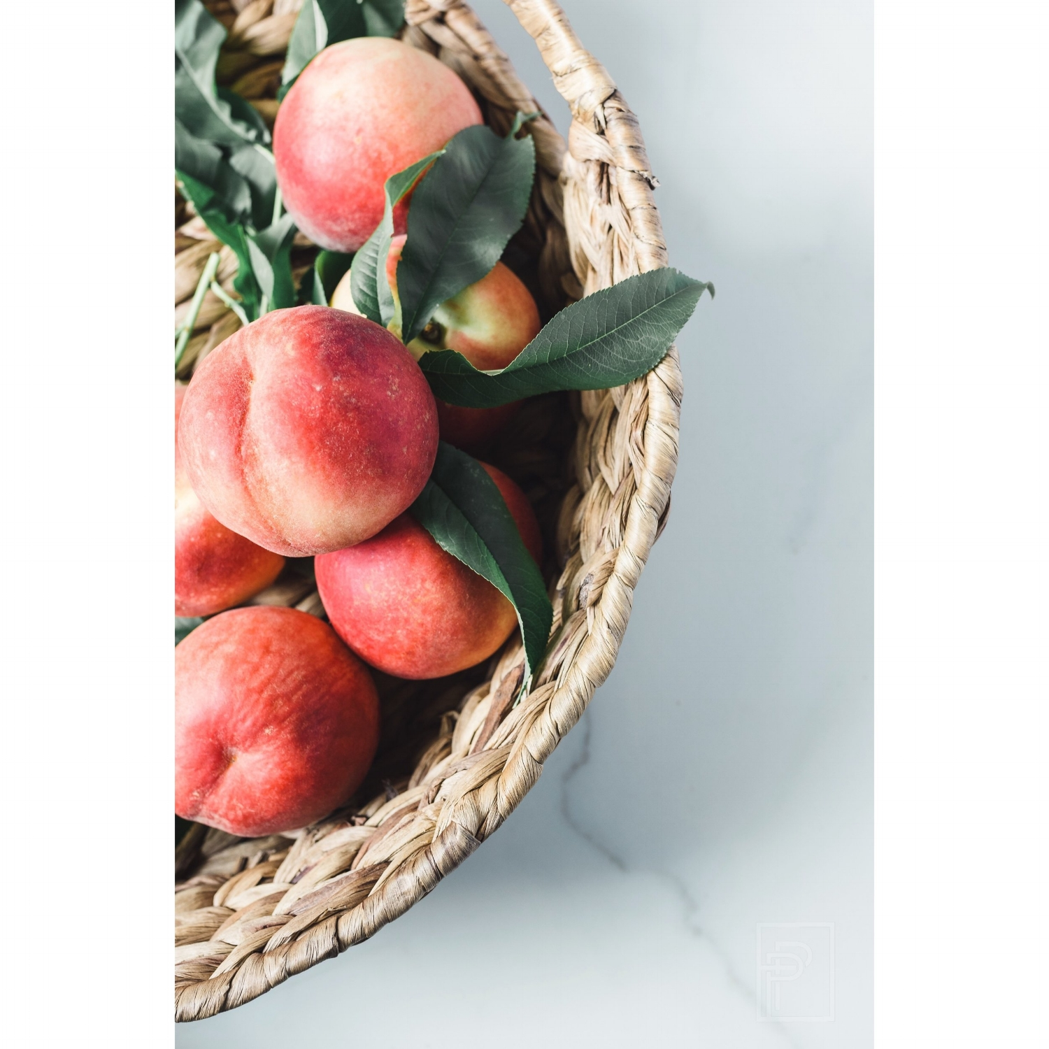 peach basket food photography the pen + piper