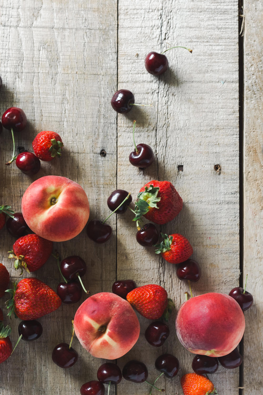 summer peaches cherries food photography stylist