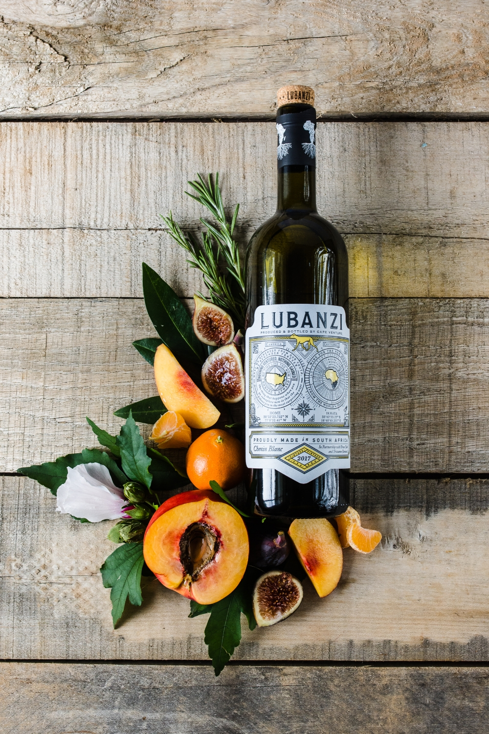 lubanzi wine flatlay product shot