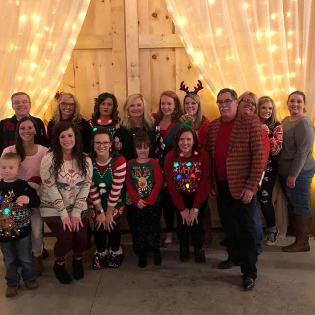 "Enjoyed having my ""Work family"" at the Barn last night for Christmas 🎄🎅🏻🎄"