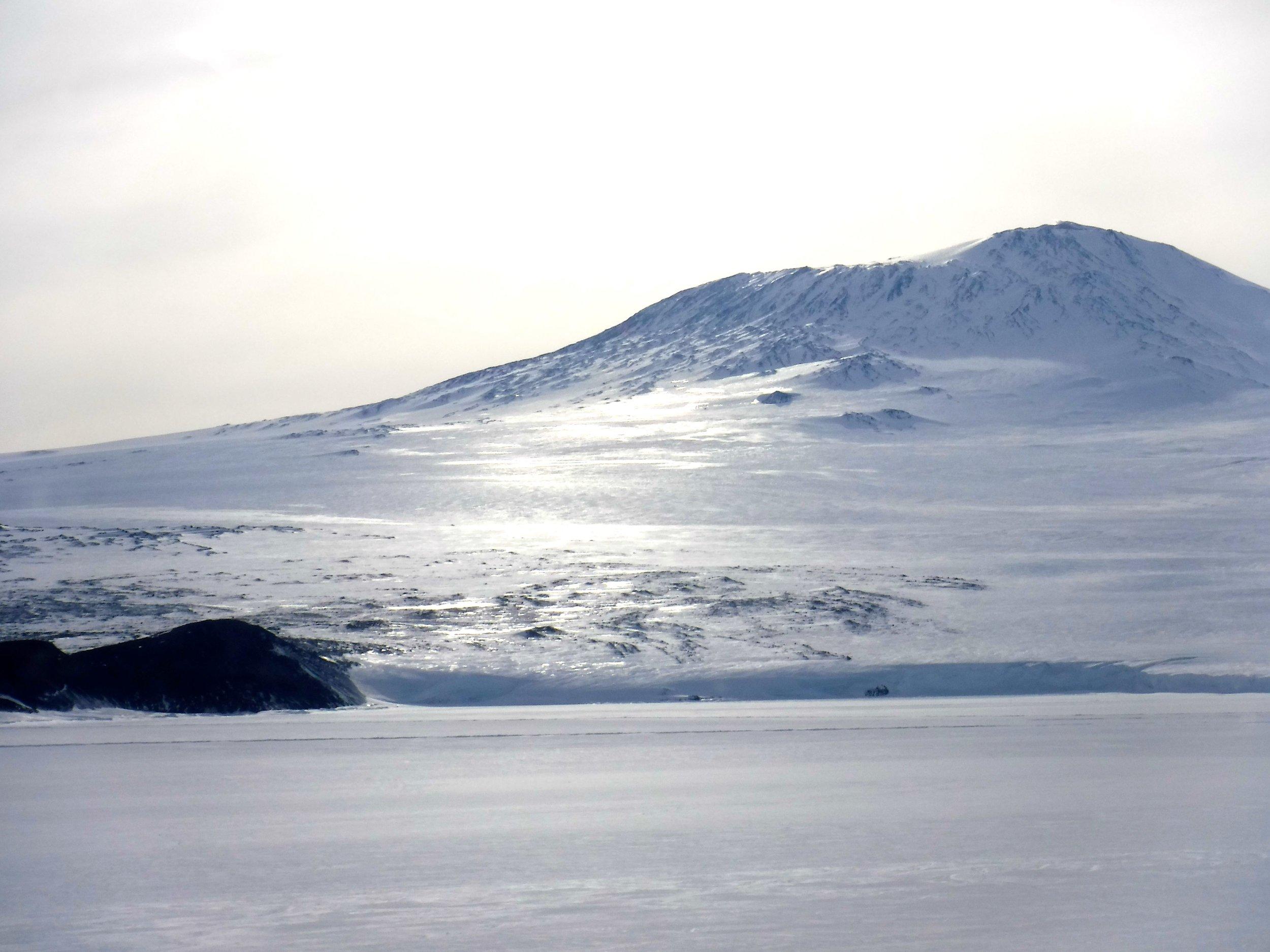 Mount Erebus. Photo credit: Caitlin Scarano.