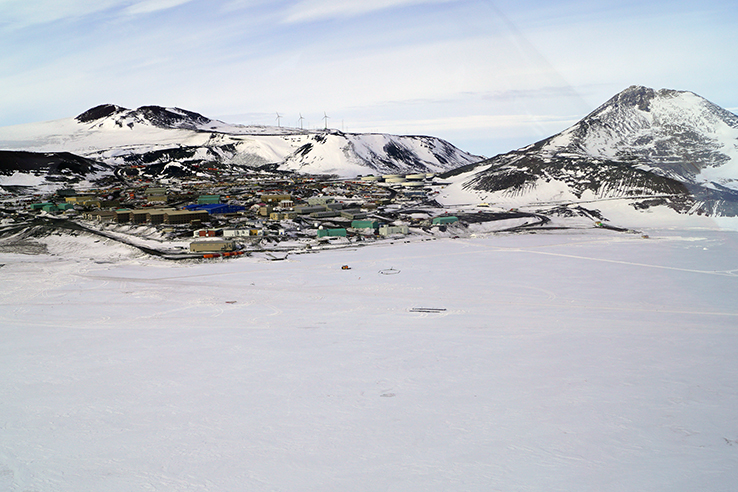 McMurdo from above. Photo credit: Elaine Hood.