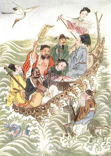 Eight Immortals crossing the sea