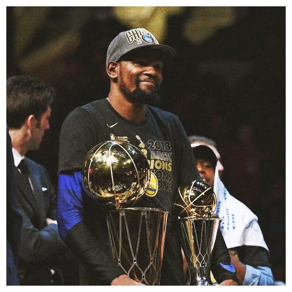 WARRIORS - 2018 CHAMPS • Finals MVP: Kevin Durant