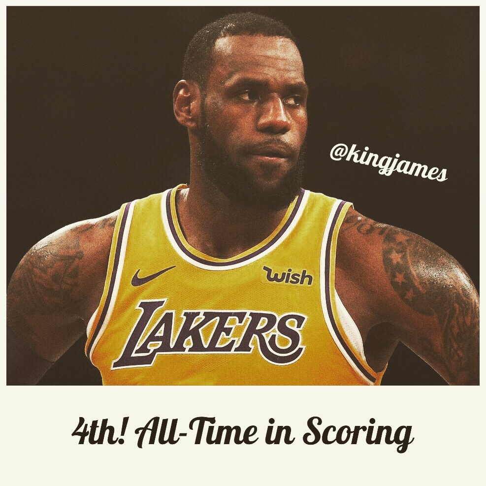 LeBron: 4th All-Time in Scoring