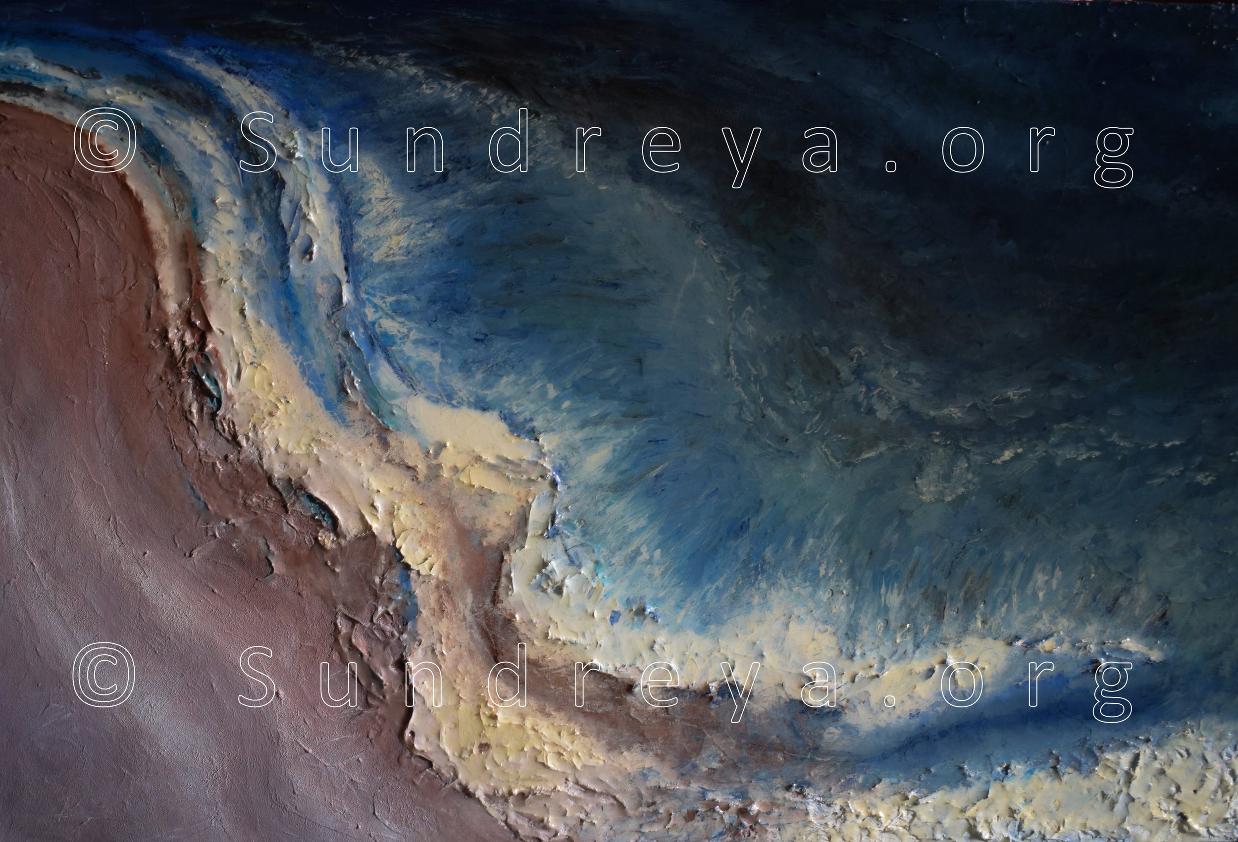 "Commissioned: Glocean, 24 x 36"", oil with resin finish"