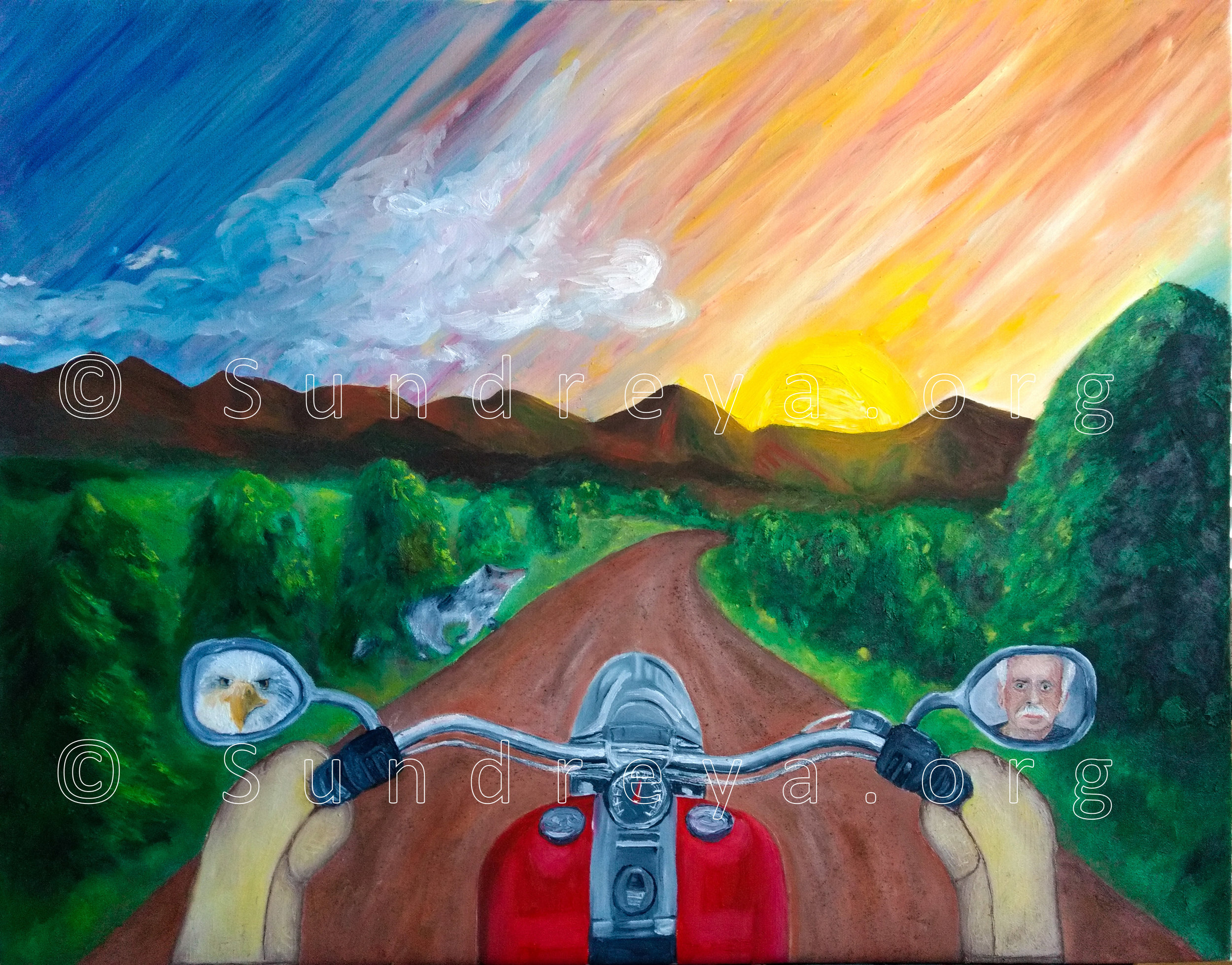 "Commissioned: Perfect Ride, 22 x 28"", oil"