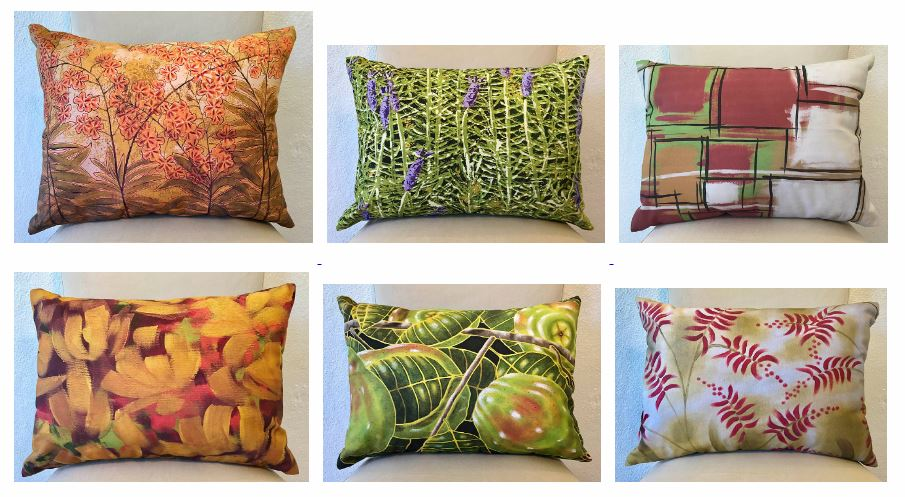 Textiles available on her website and in her Gallery