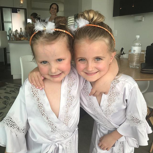 These to cuties were an absolute pleasure to do hair and makeup on #thestylistcollective #weddinghair #bridalmakeup #sunshinecoastwedding