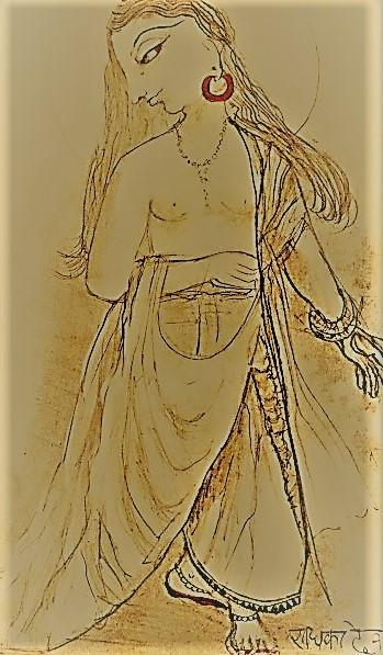 Lord Caitanya  (Drawing by Swamini Rishika Devi)