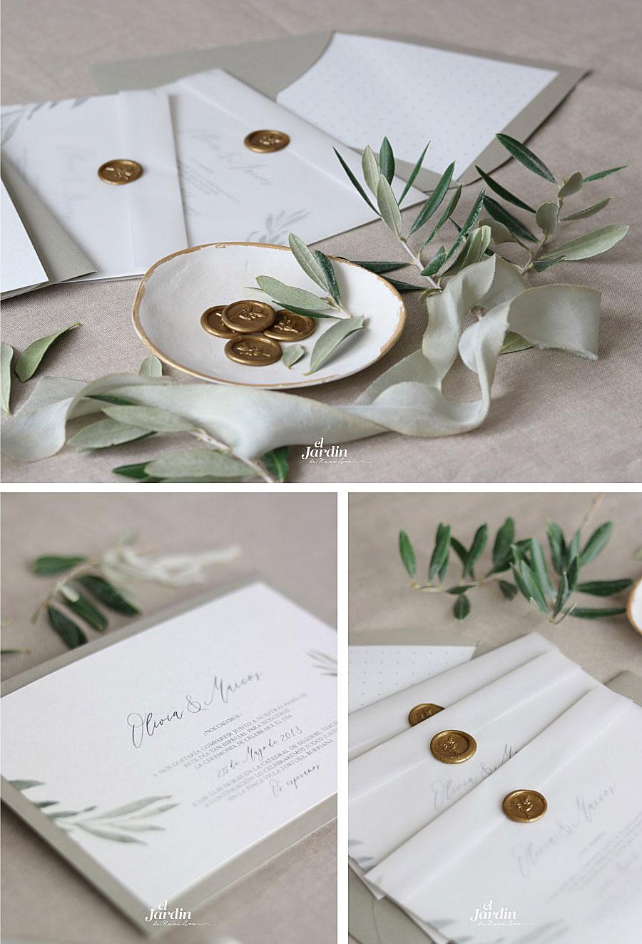 Invitaciones con motivos botánicos
