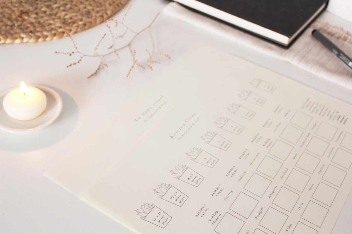 Un regalo para ti! - Es una guía de uso para ayudarte a planificar tu presupuesto de boda, organizar tus citas con proveedores y lo esencial a tener en cuenta en cada uno de los 12 meses previos a tu slow wedding