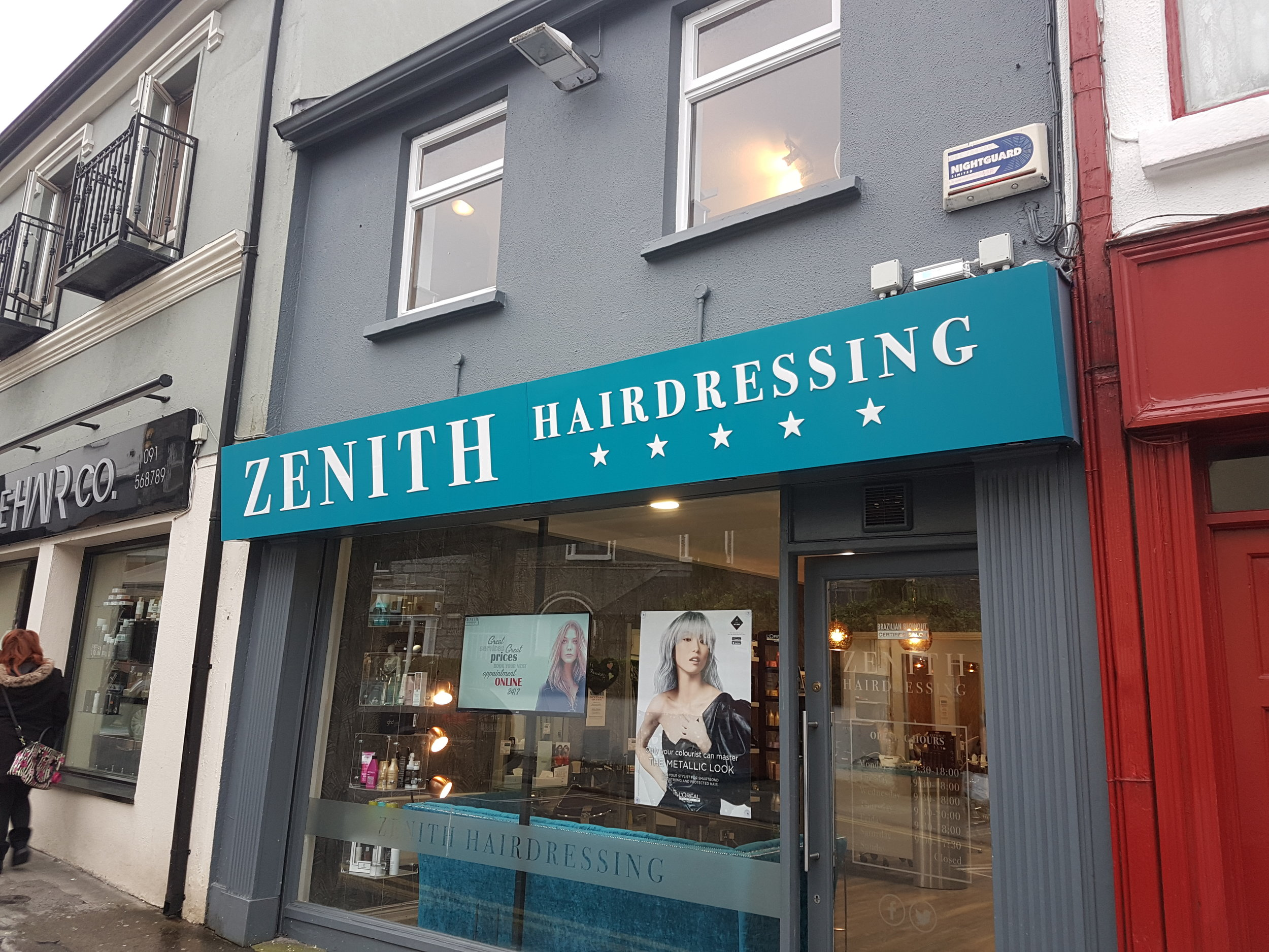 Zenith Hairdressing, Eyre St., Galway
