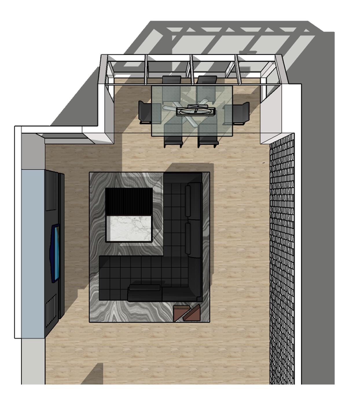 Toronto Condo - renders by me, design by Toronto Interior Designer