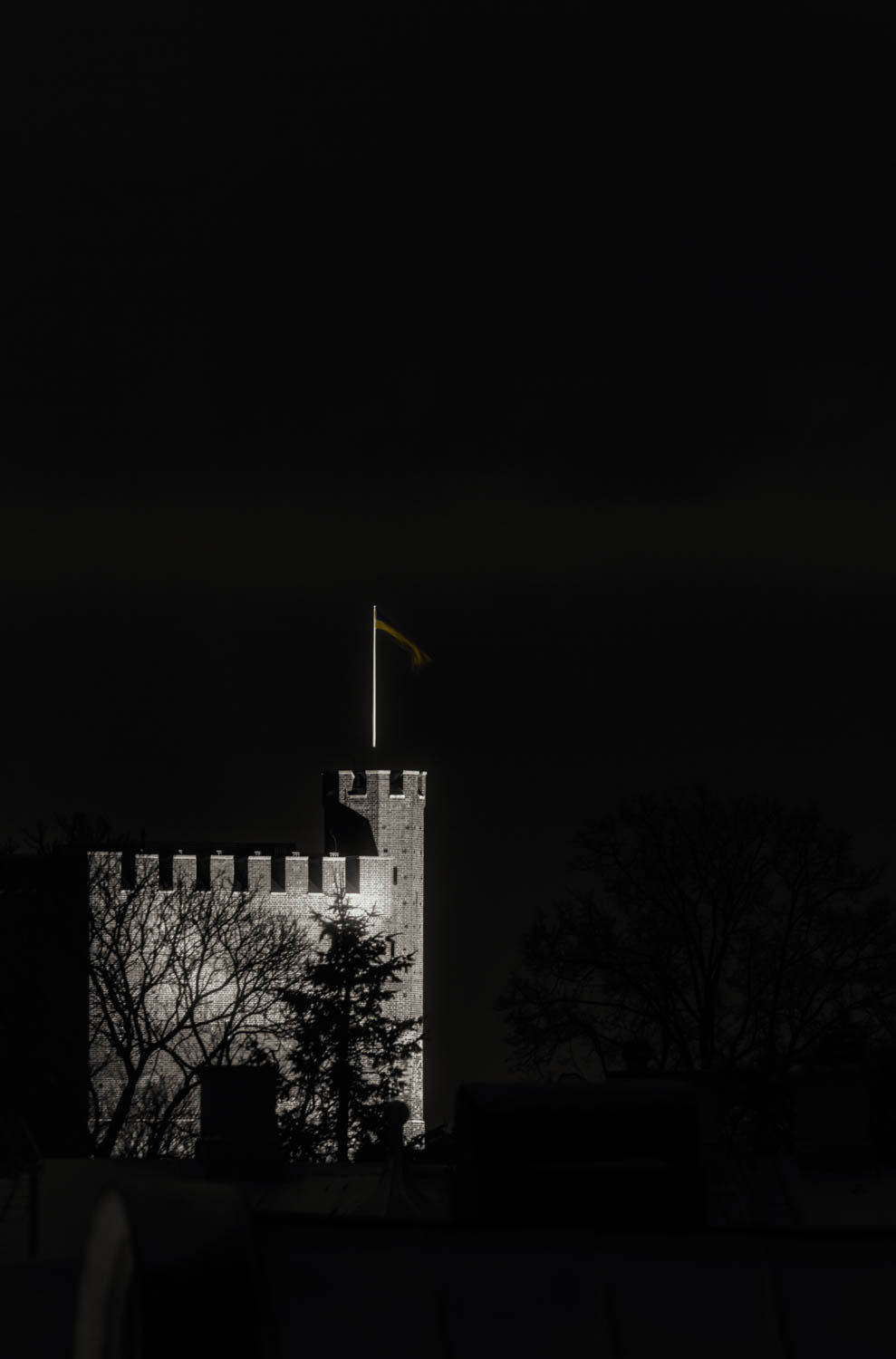 One of the first - Images I ever took since getting a digital camera is this one. It's taken at night of the medieval tower Kärnan in Helsingborg.
