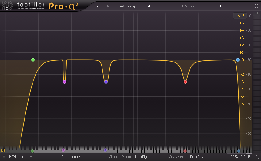 - Make use of high pass and low pass filters, also utilize different bell shapes, different slopes for precision where it is necessary.