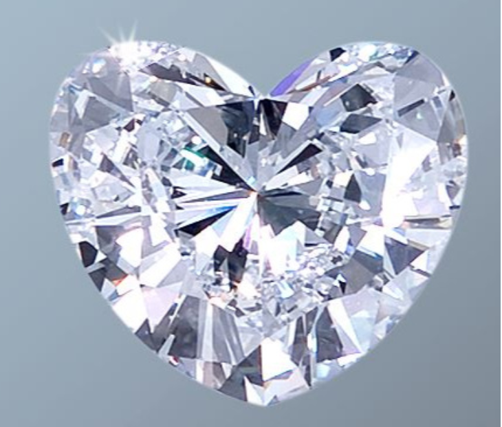 Diamond 12.67ct D IF heart shape,  image Jessica Cadzow-Collins