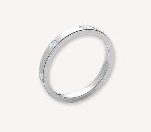 18ct white gold diamond gipsy set eternity ring, from £1500 Cadzow Collins