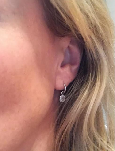 Jessica's own diamond drops on sleeper hoops, go anywere & wear with anything… the best things she's ever made