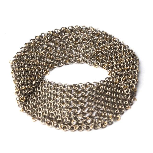 Titanium and 18ct gold cuff, Alison Evans