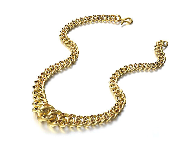 Swap, gold hand made chain necklace Lucie Gledhill